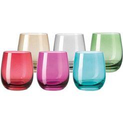 leonardo glas 'sora' (set van 6) multicolor
