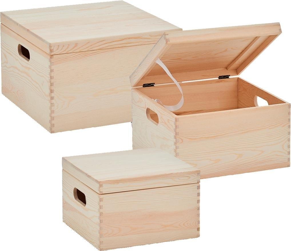 Zeller Present opbergbox met deksel (set, 3 stuks) goedkoop op otto.nl kopen