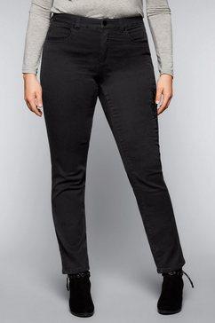 sheego denim stretch jeans zwart