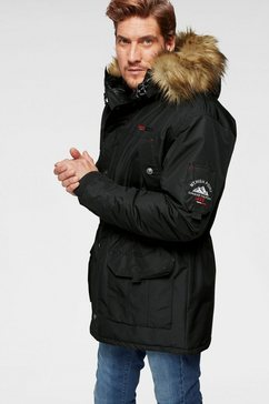 man's world parka zwart