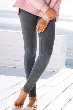 bench. legging met glanzende logoprint grijs