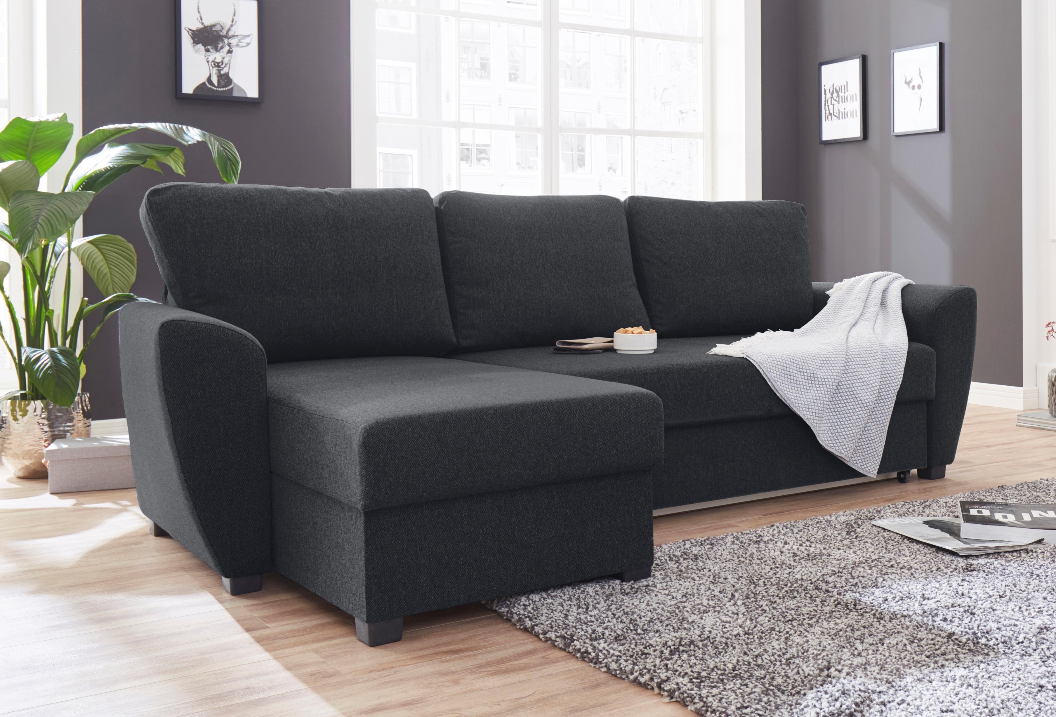 ATLANTIC home collection hoekbank inclusief bedfunctie en bedkist - gratis ruilen op otto.nl