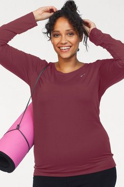 only play shirt met lange mouwen »onpclarissa plain ls training tee-curvy« rood