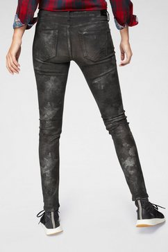 pepe jeans skinny fit jeans »pixie silver moon« zwart