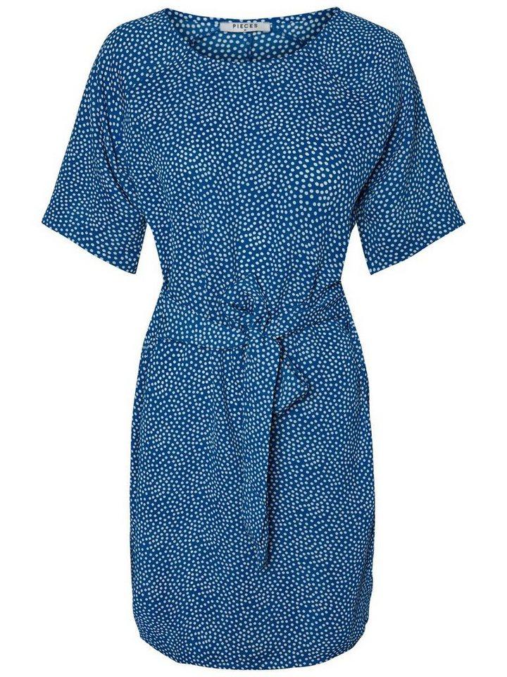 Pieces Midi met korte mouwen jurk blauw