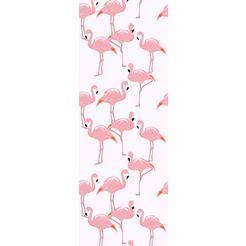 queence vinylbehang »ierda«, 90 x 250 cm, zelfklevend roze