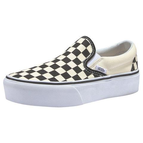 NU 15% KORTING: Vans plateausneakers Checkerboard Classic Slip-On Platform