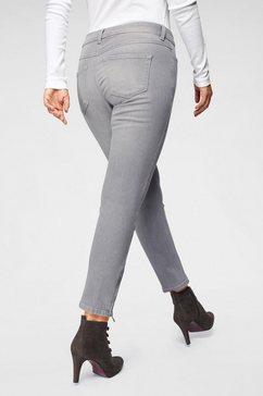 mac ankle jeans »slim chic« grijs