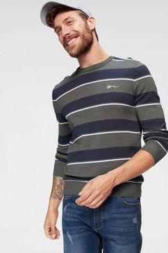 john devin tricot-trui met strepen grijs