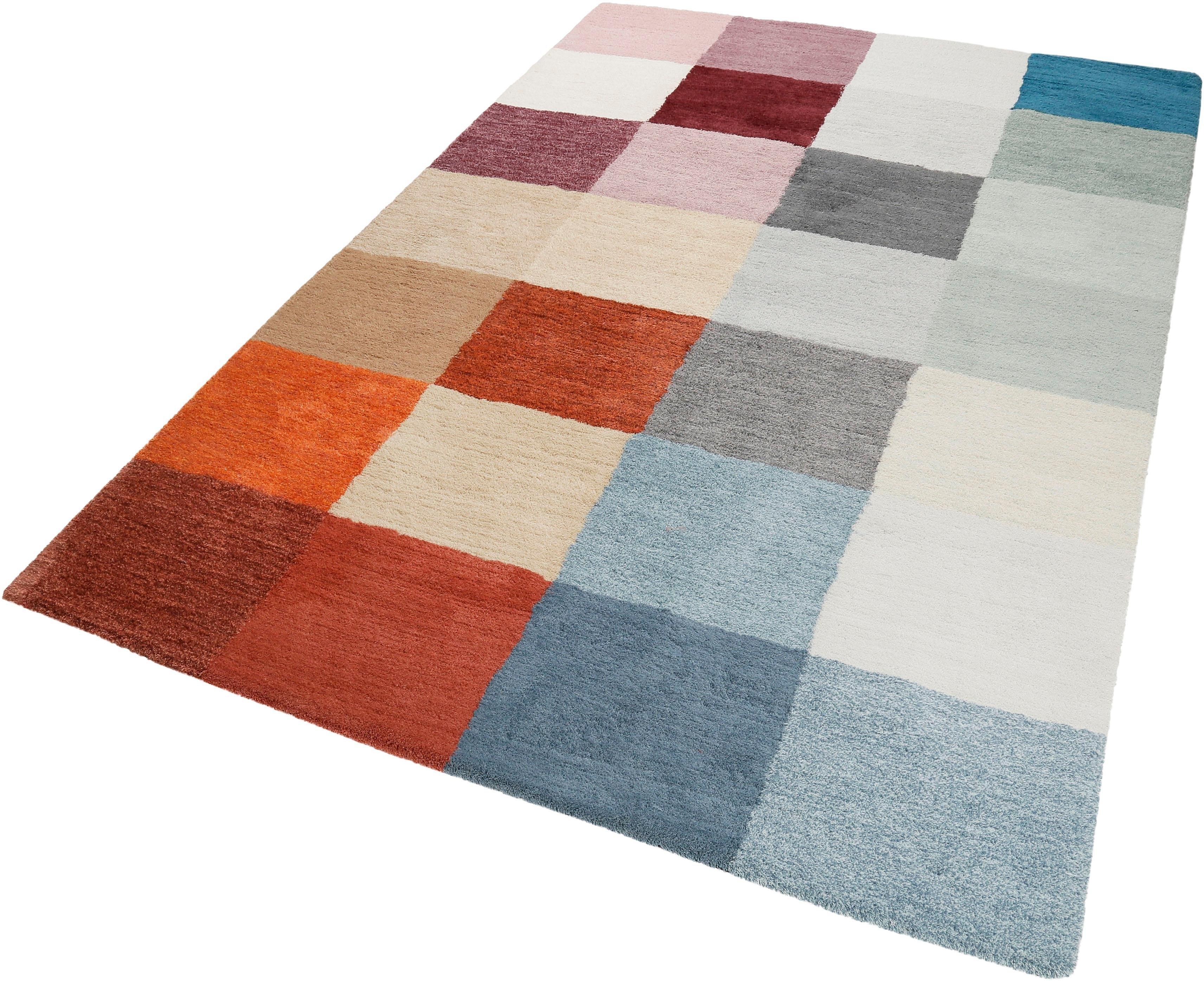 ESPRIT Vloerkleed, »#Loft Karo«, rechthoekig, hoogte 20 mm, handgetuft goedkoop op otto.nl kopen