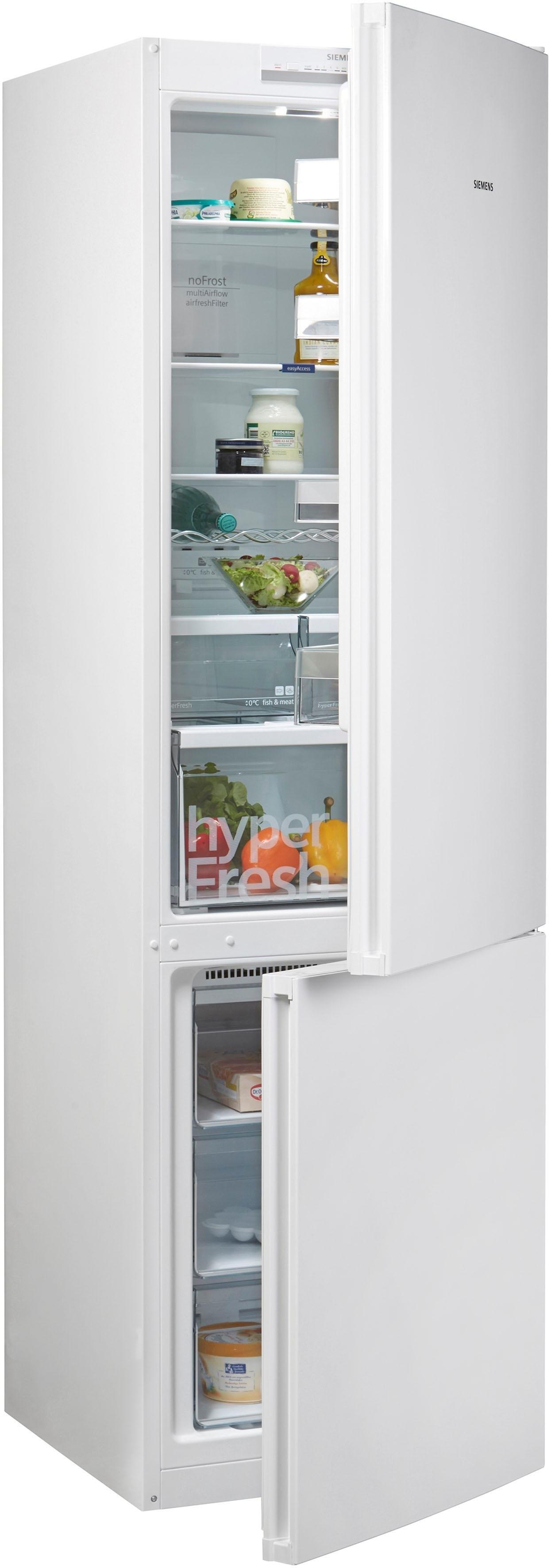 Siemens koel-vriescombinatie iQ300, 203 cm hoog, 60 cm breed in de webshop van OTTO kopen