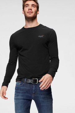superdry shirt lange mouwen »orange label l-s vntge emb tee« zwart