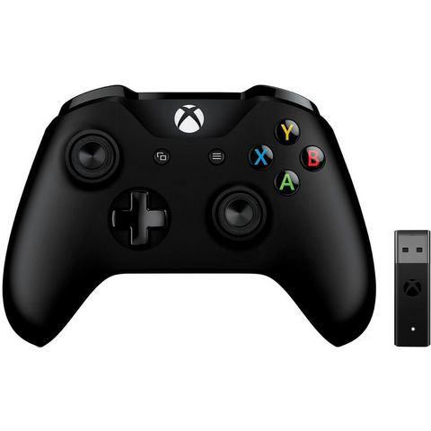 Microsoft Xbox controller en wireless adapter voor Windows