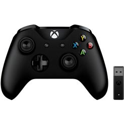 microsoft xbox controller en wireless adapter voor windows zwart