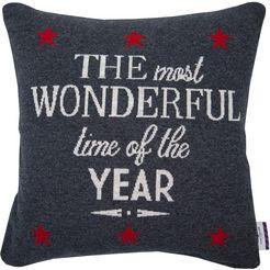 tom tailor kussenovertrek christmas knit (1 stuk) grijs