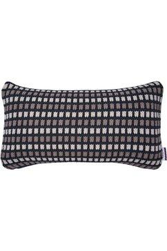 kussenovertrek, »knitted chessboard«, tom tailor zwart
