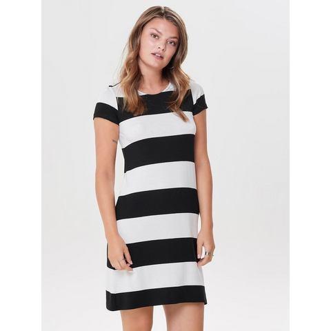 ONLY Loose fit jurk met korte mouwen wit