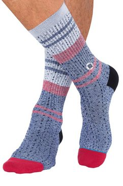 stance sokken »trickle« in motievenmix blauw