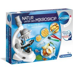 clementoni kindermicroscoop galileo - natur unter dem mikroskop gemaakt in europa wit