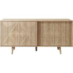 couch ♥ dressoir schwalm met 2 schuifdeuren, 155 cm breed, couch favorieten bruin