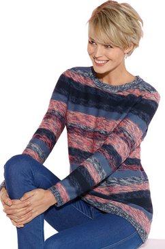 classic basics trui met een ronde hals roze