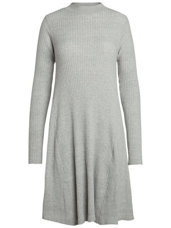 Pieces Lange mouw gebreide jurk wit