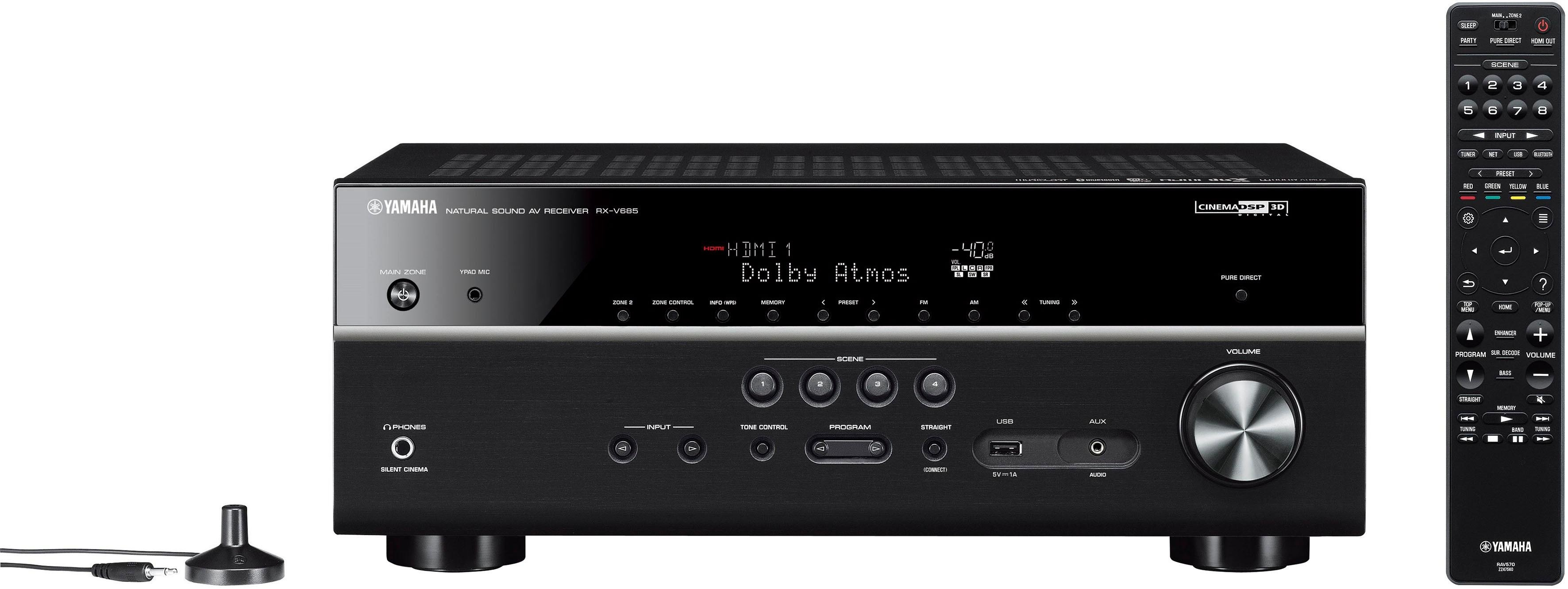 Yamaha »RX-V685« 7.2 AV-receiver (Bluetooth, wifi, LAN (ethernet), 4K-upscalingtechniek) in de webshop van OTTO kopen