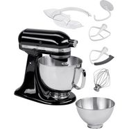 kitchenaid keukenmachine artisan 5ksm175pseob met gratis groentesnijder en 3 trommels, 300 w zwart