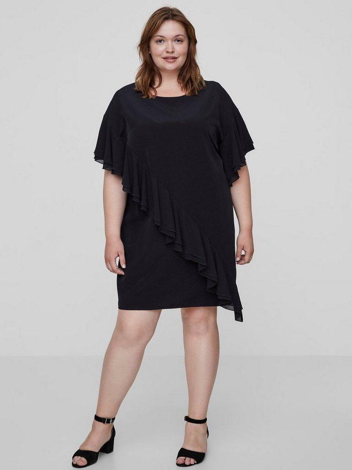 Junarose Ruche jurk zwart