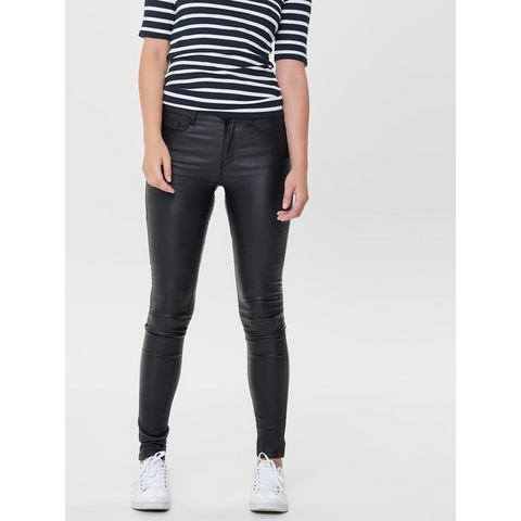 Only Anna mid gecoate Skinny jeans