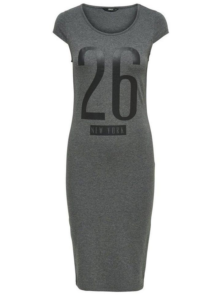 ONLY Bedrukte jurk grijs