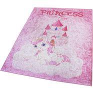 sehrazat vloerkleed voor de kinderkamer caimas 2523 wasbare, zachte microvezel roze