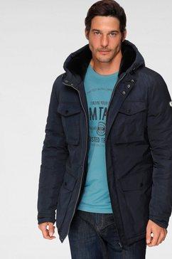 alpenblitz outdoorjack halifax met merkbadge op de mouw blauw