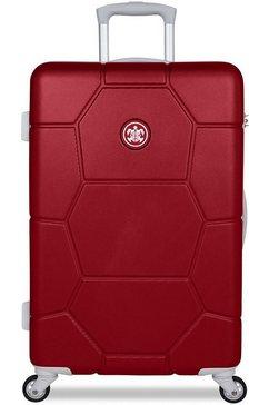 suitsuit harde trolley met 4 wieltjes, »caretta, 65 cm« rood