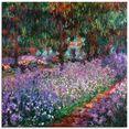 artland print op glas de tuin van de kunstenaar bij giverny (1 stuk) paars