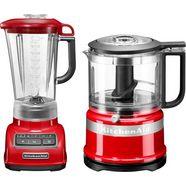 kitchenaid blender 5ksb1585eer en mini-hakmolen 5kfc3516 voordeelset rood