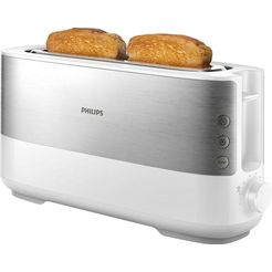 philips toaster »hd2692-00«, voor 2 plakken brood, 1030 w wit