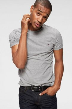 tommy hilfiger t-shirt »core stretch slim cneck tee« grijs
