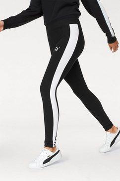 puma legging »classics logo t7 legging« zwart