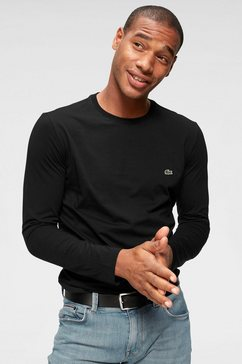 lacoste shirt met lange mouwen jerseykwaliteit zwart