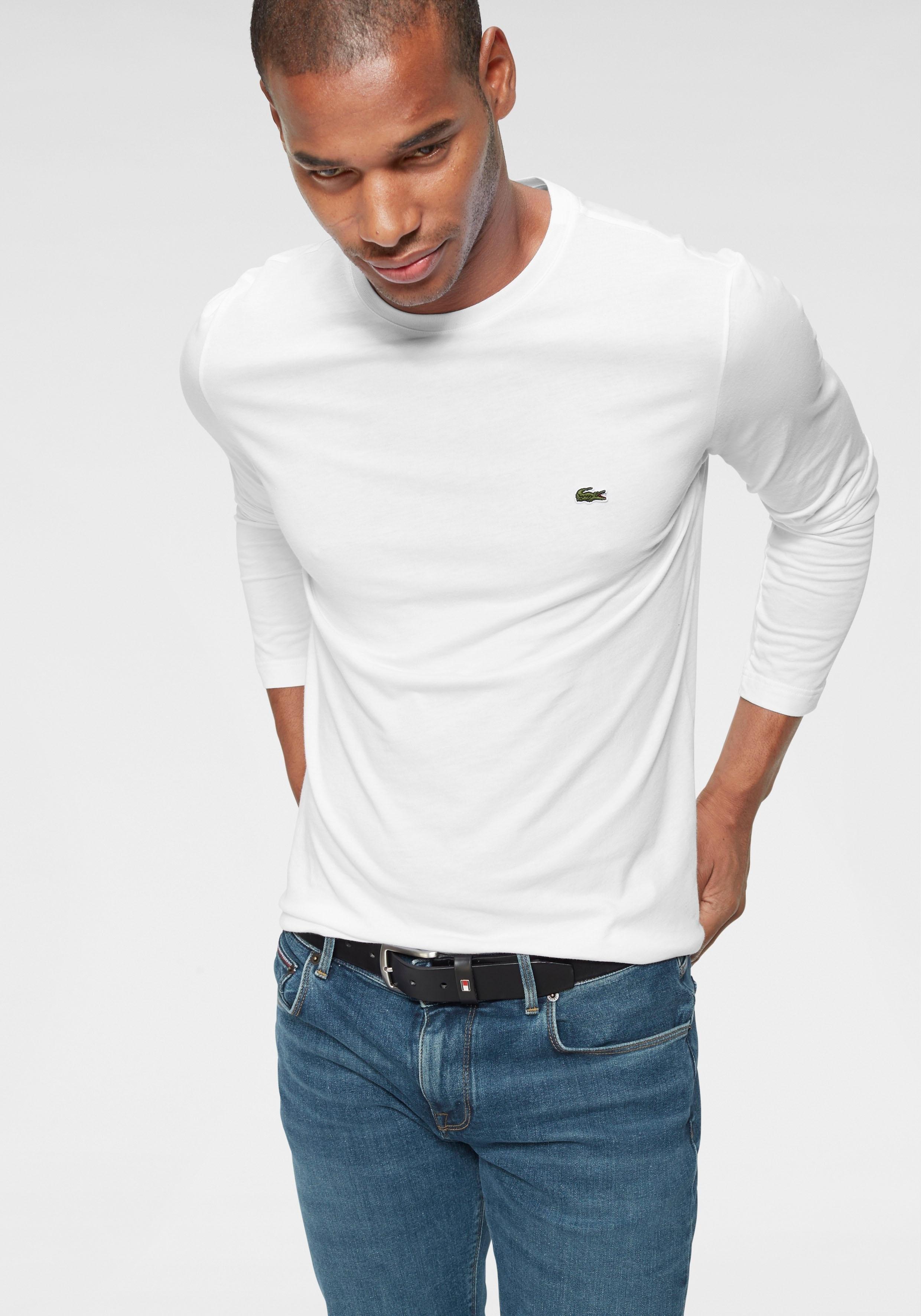 Lacoste Shirt met lange mouwen Jerseykwaliteit nu online kopen bij OTTO