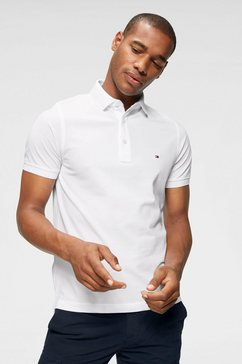 tommy hilfiger poloshirt »core tommy slim polo« wit