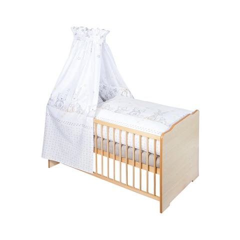 Zöllner 7-dlg. kinderledikant Dierenvriend bed+matras+hemelstang+hemel+hoofdbeschermer+overtrekset