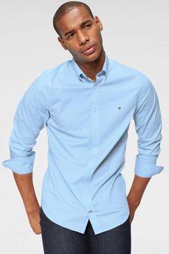 tommy hilfiger overhemd met lange mouwen »core stretch slim poplin shirt« blauw