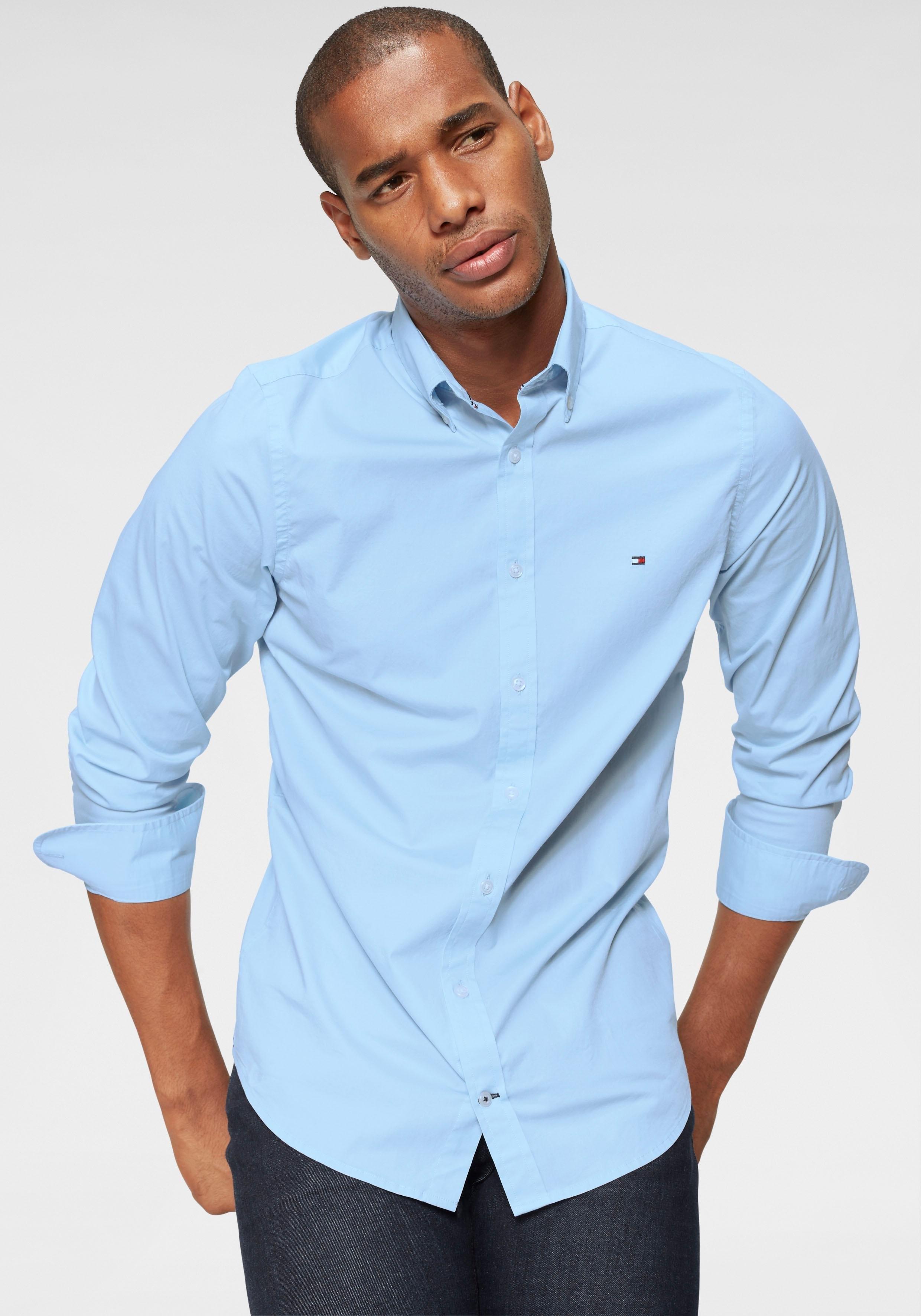 TOMMY HILFIGER overhemd met lange mouwen »CORE STRETCH SLIM POPLIN SHIRT« bij OTTO online kopen