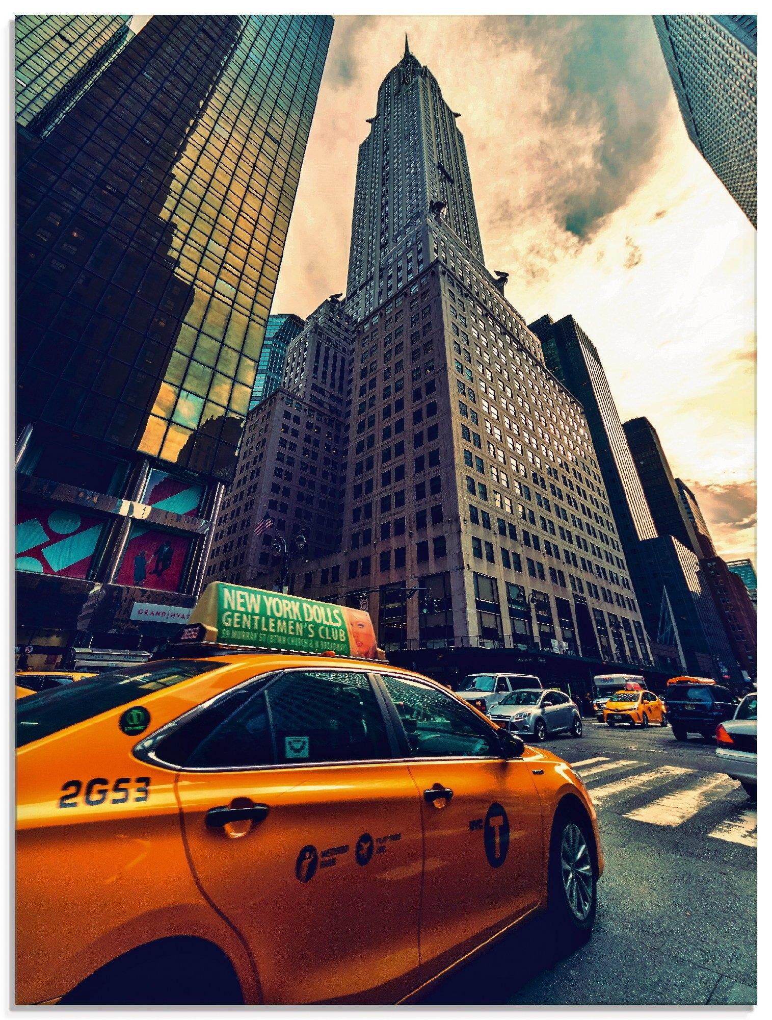 Op zoek naar een Artland print op glas »Taxi in New York«? Koop online bij OTTO