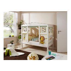 ticaa kinderledikant in huisjes-look »lio« van massief grenen, ligoppervlak 80x160 cm multicolor