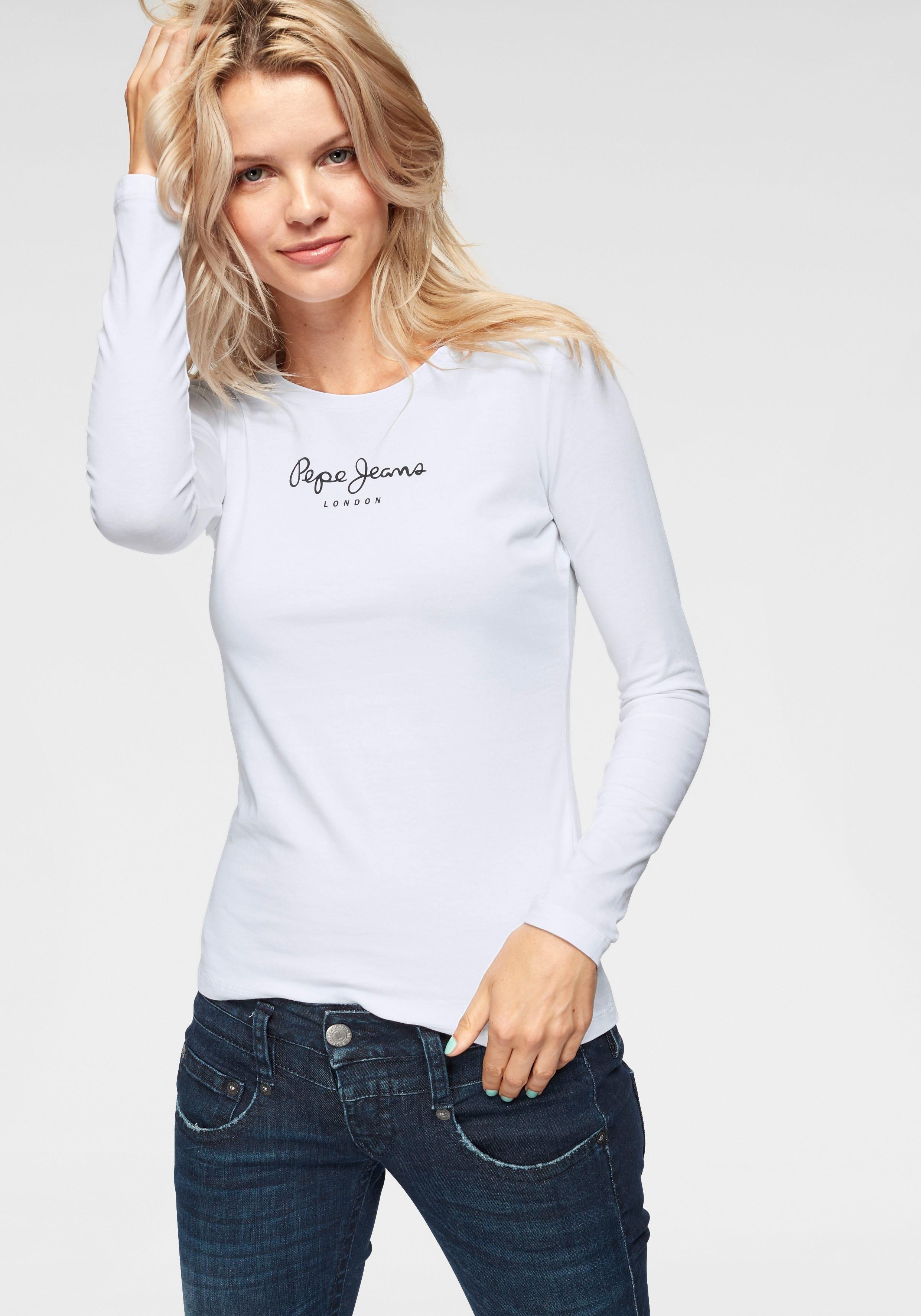 Pepe Jeans shirt met lange mouwen »NEW VIRGINA L/S« - gratis ruilen op otto.nl