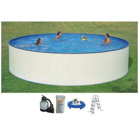 HANSEATIC set: Rond zwembad Set: rond zwembad met veiligheidstrap en filterinstallatie 3 m�/u (5-dlg