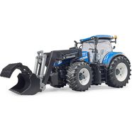 bruder tractor 03121, »new holland t7.315 met frontlader« grijs